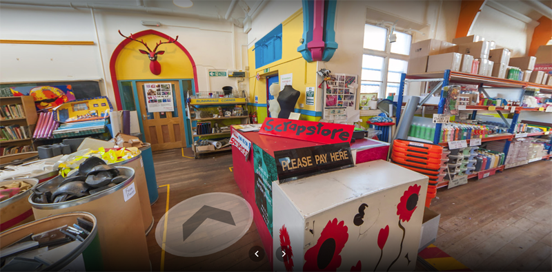 360 photoshere virtual tour of scrapstore hull